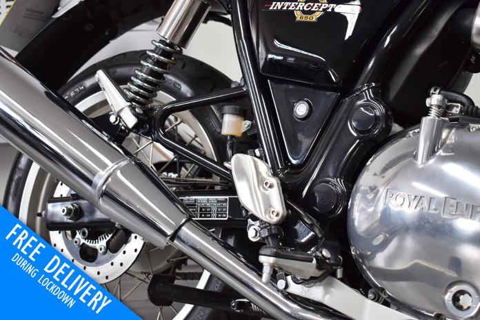 Used Royal Enfield Interceptor for sale Northampton Bike Sanctuary right adjustable footre