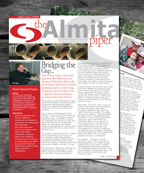 Almita Piper Fall Newsletter