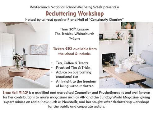 Decluttering workshop poster pic Jan 202
