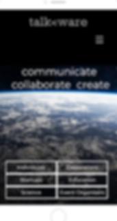 talkware mobile landing page screenshot.
