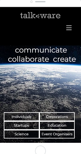 talkware mobile landing page screenshot.