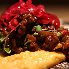 Veal stew with pomegranate