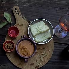 Veal kharcho & Gomi (Georgian polenta)