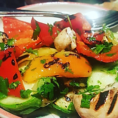 Grilled seasonal vegetable salad
