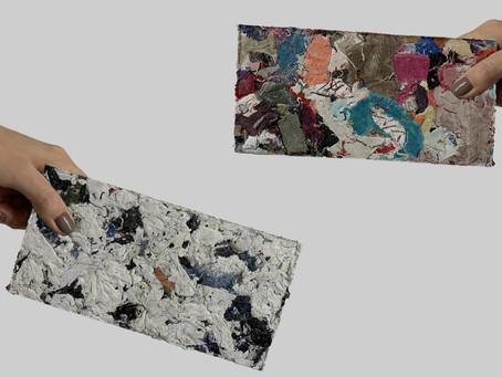 Sobras de tecido são usadas na produção de tijolos decorativos