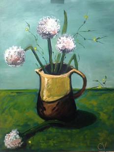 Pictura ulei flori 9