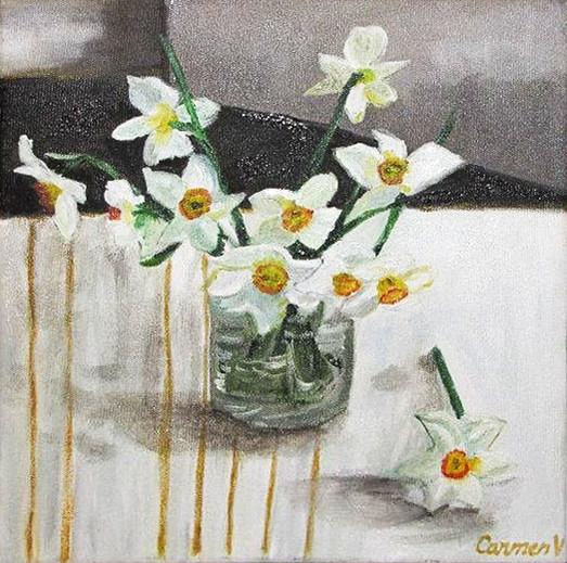 Pictura ulei flori 8