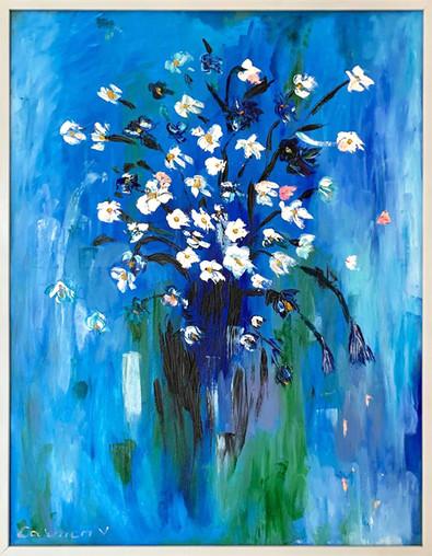 Pictura ulei flori 1