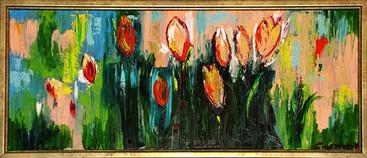 Pictura ulei flori 5