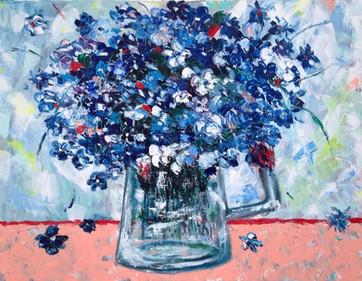 Pictura ulei flori 2
