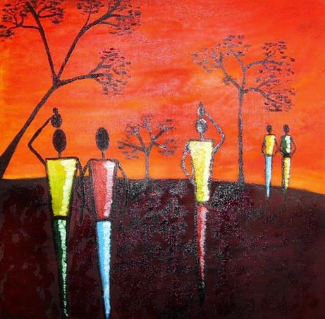 Pictura ulei africa 1