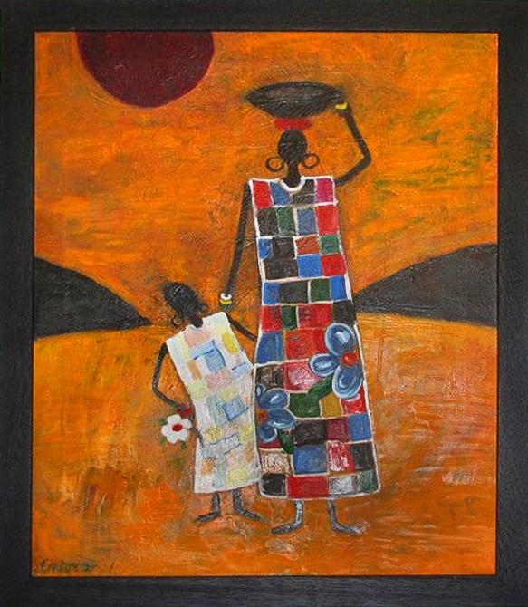 Pictura ulei africa 2