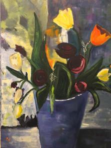Pictura ulei flori 7