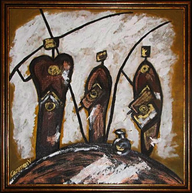 Pictura ulei africa 3