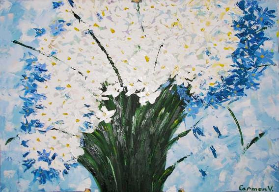 Pictura ulei flori 4