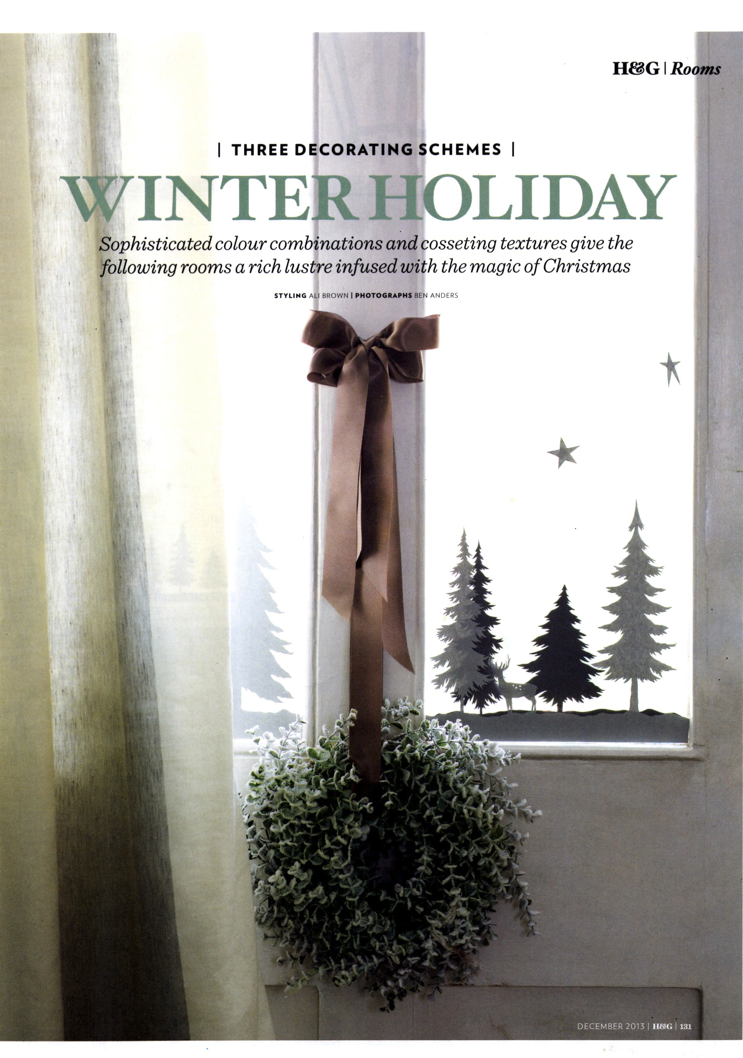 Homes & Gardens December 2013