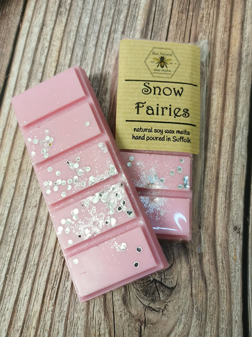 Snow Fairies soy wax snap bar