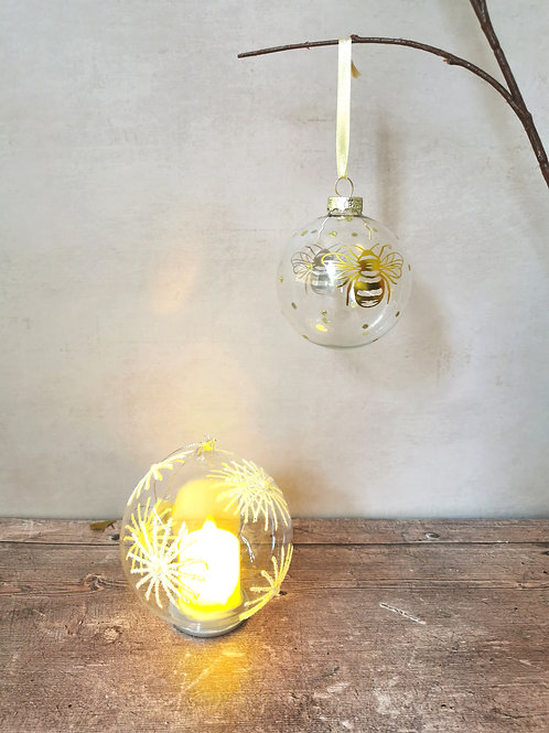 Christmas Baubles Bee & Led from £5