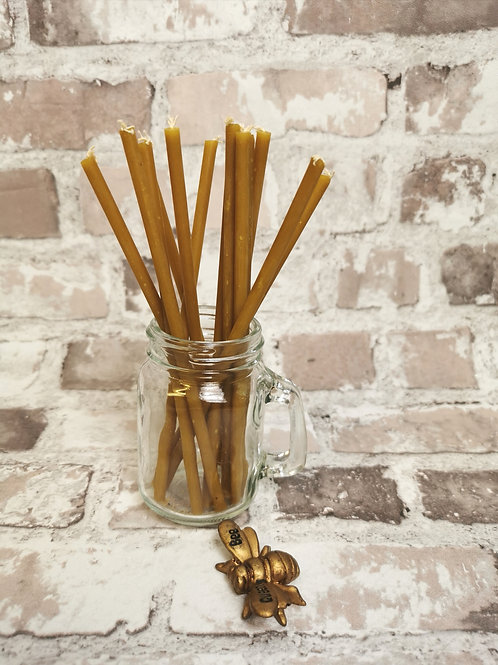 Beeswax traditional church/birthday candles (pack of 10)