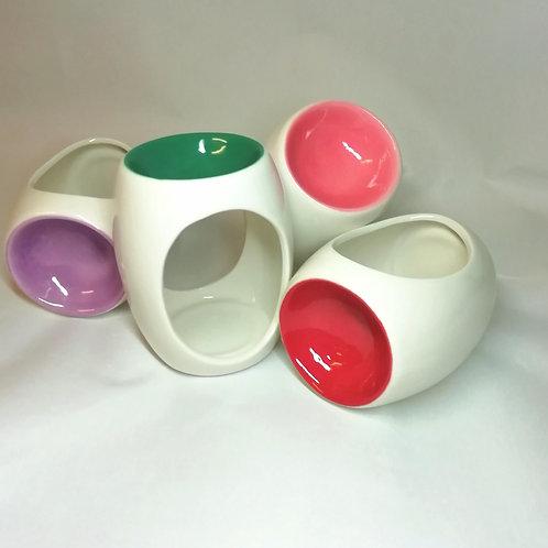 Small coloured bowl tealight burner