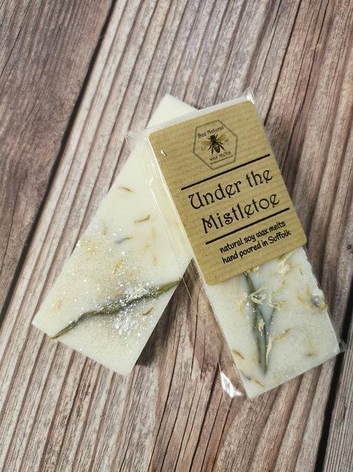Under the Mistletoe soy wax snap bar