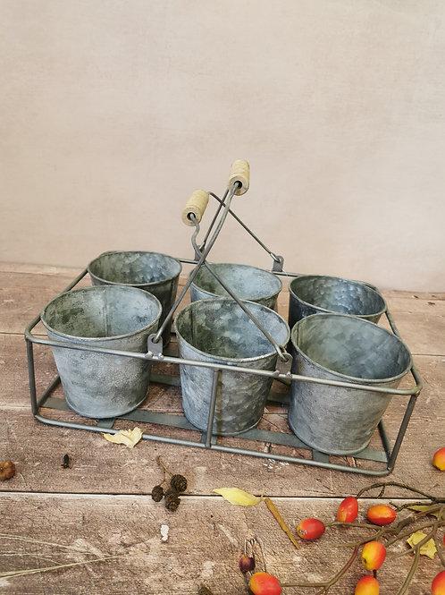 6 pot planter & carrier
