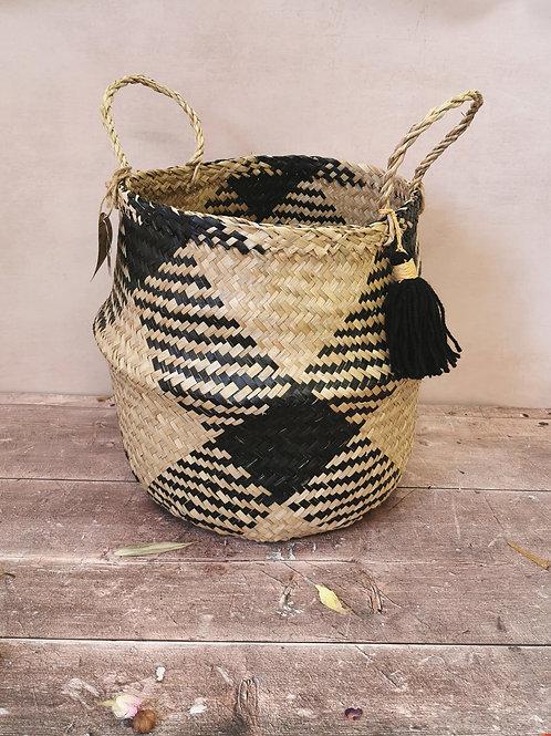Tassel Aztec Basket