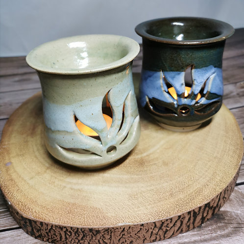 Handmade pottery tealight burner