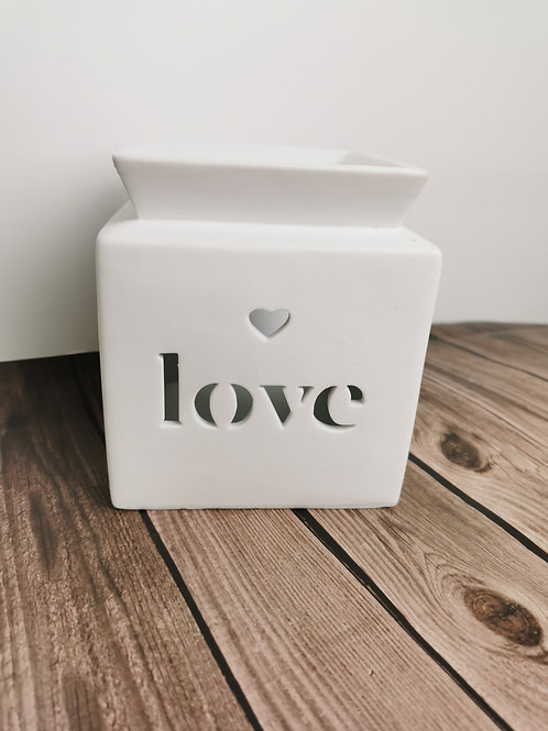 Love square cut out burner