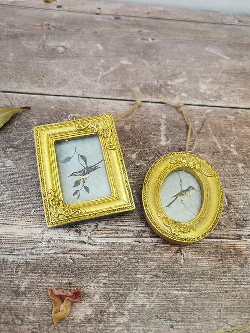 Vintage Gold mini photo frame