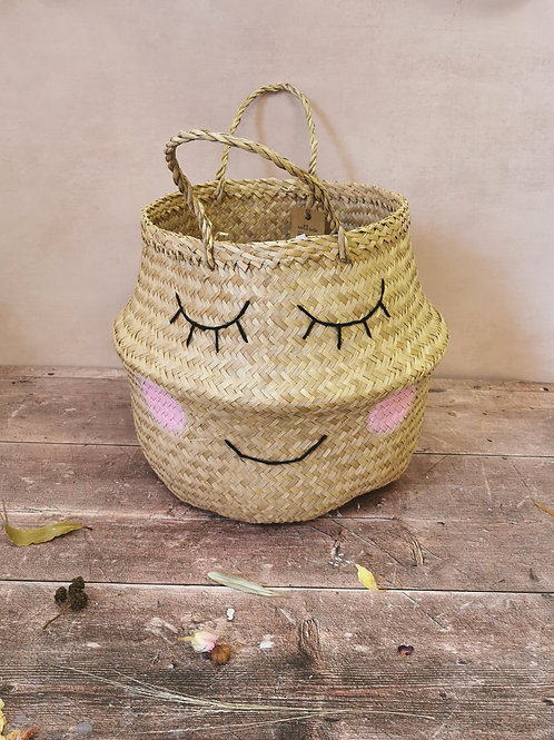Sweet Dreams Seagrass Basket