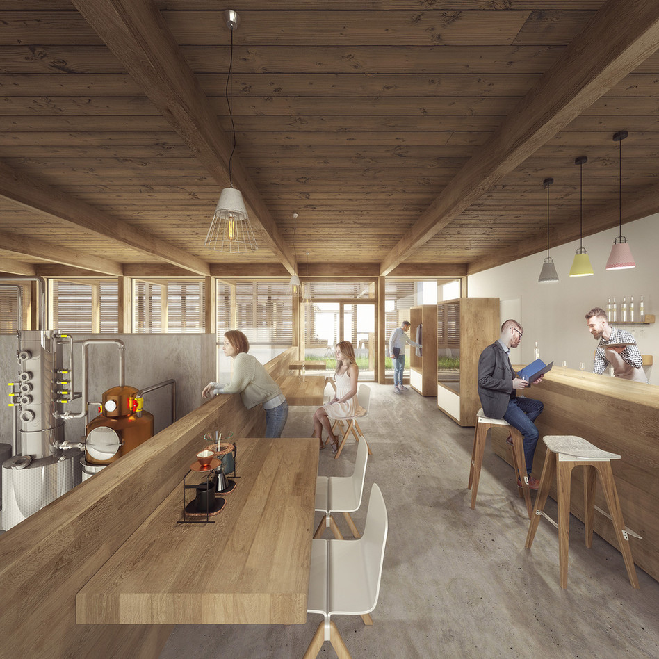 """""""Tasting Room"""" - An Architectural Project Designed + Visualised by Adam Mozes"""
