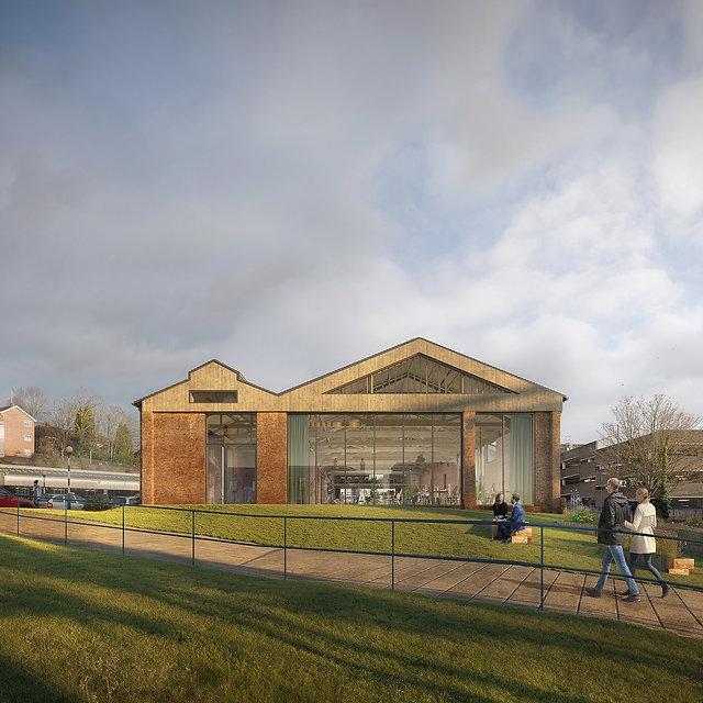 Hawkins Brown | Brunel Railway Shed | nbv studio