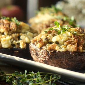 Buckwheat Stuffed Mushrooms