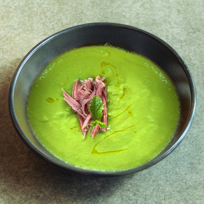 Green Pea and Smoked Ham soup