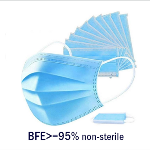 Disposable 3-ply Masks - (Box of 50)