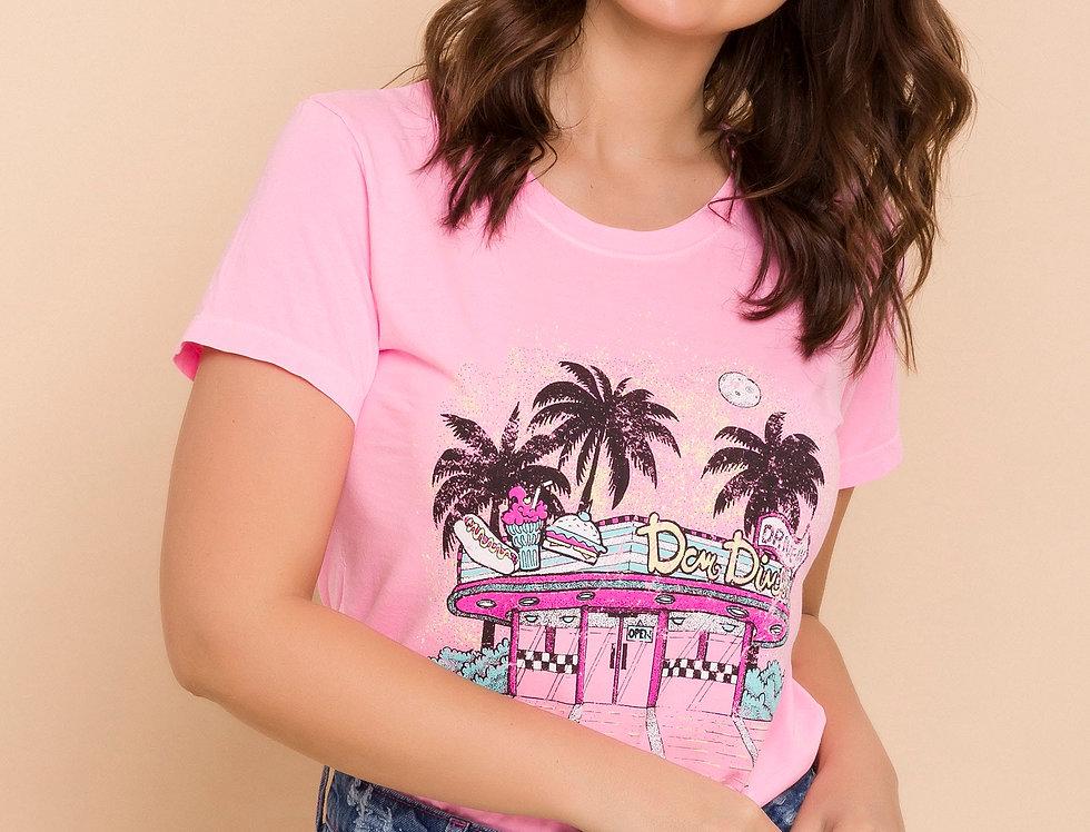 T-Shirt DCM Dinner Rosa Iogurte