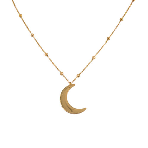 Crescent Necklace Gold