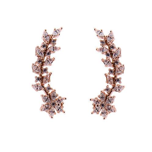 Flowerage Earrings Rose Gold