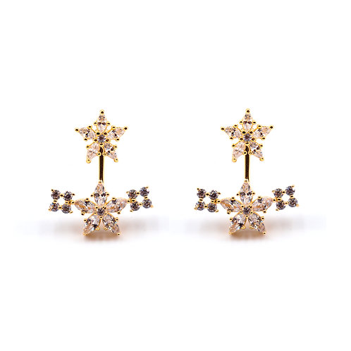 Multi Blossom Earrings Gold