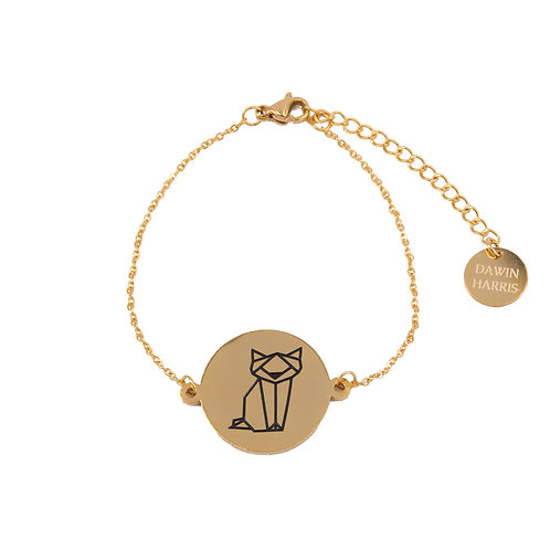 Cat Coin Bracelet Gold