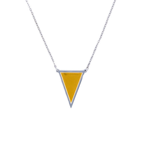 Triangle Necklace Silver