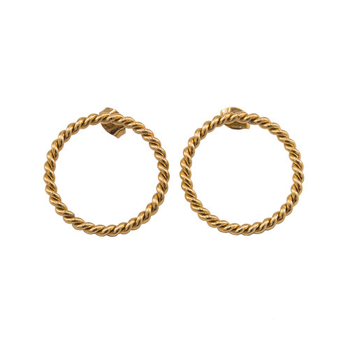 Braided Circle Earring Gold