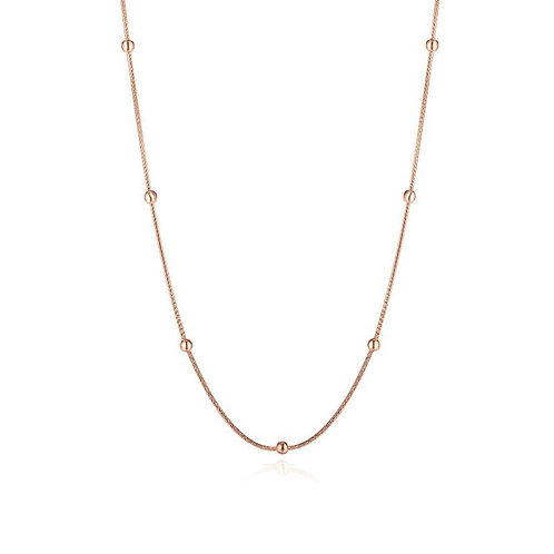 Pearl Necklace Rose Gold