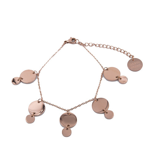 Multi Coin Bracelet Rose Gold