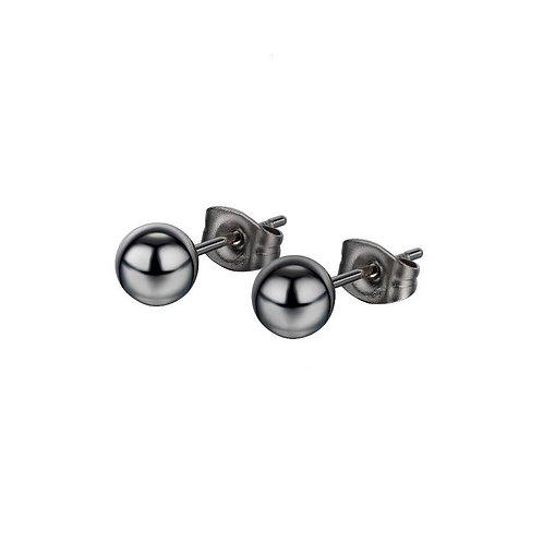 Pearl Earrings Black