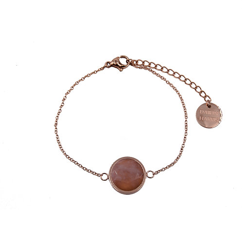 Quartz Stone Bracelet Rose Gold