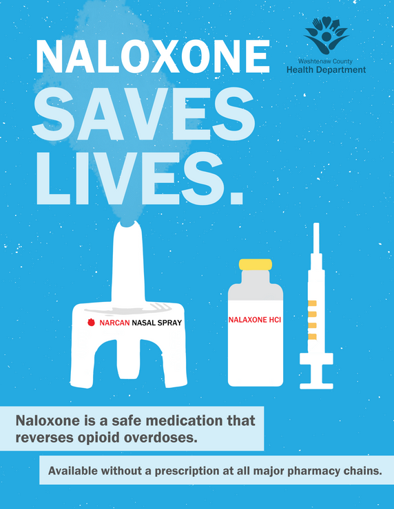 Naloxone Saves Lives Poster