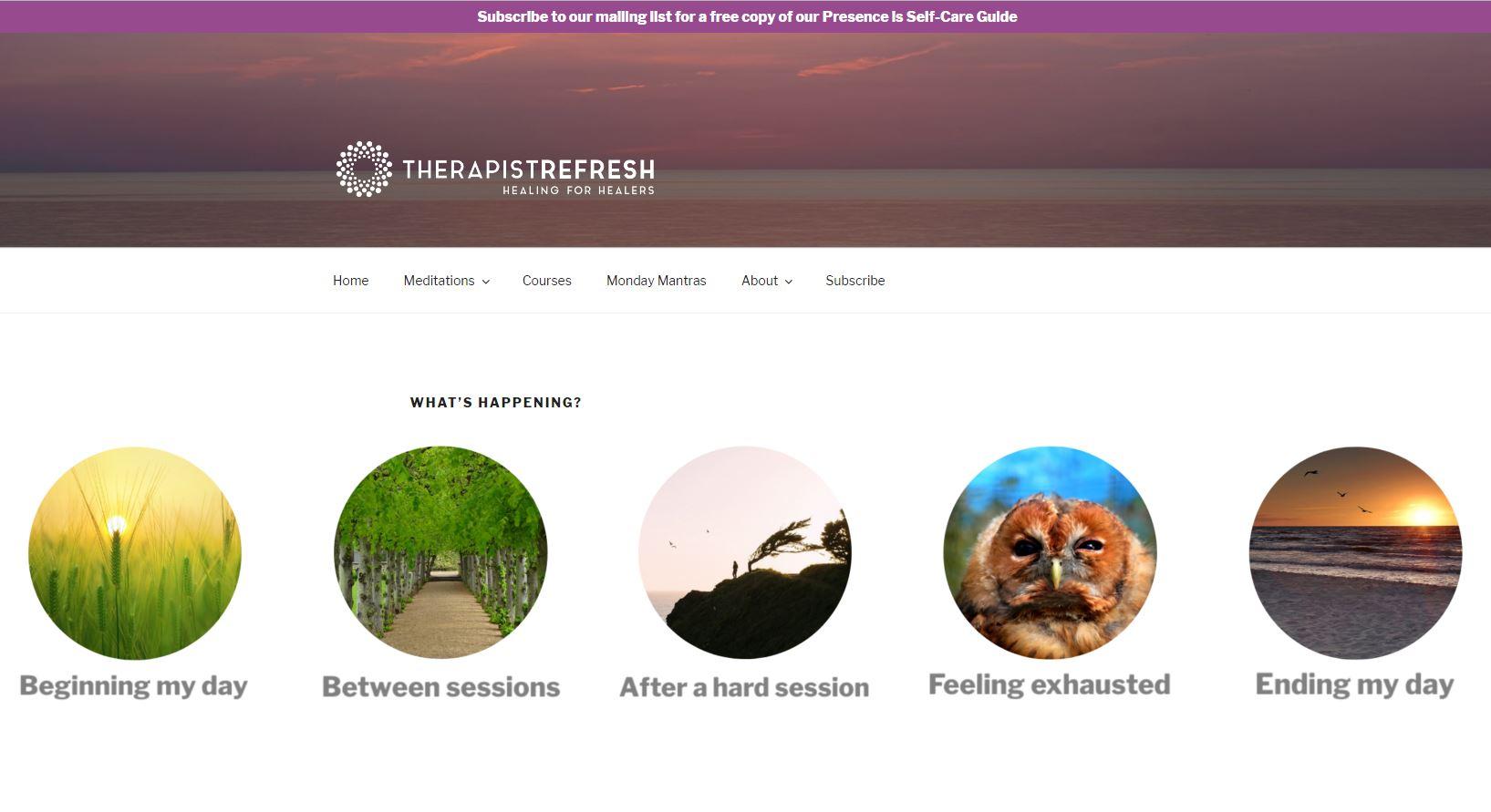 Therapist Refresh Meditation Finder