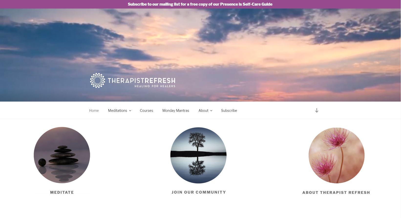 Therapist Refresh Homepage